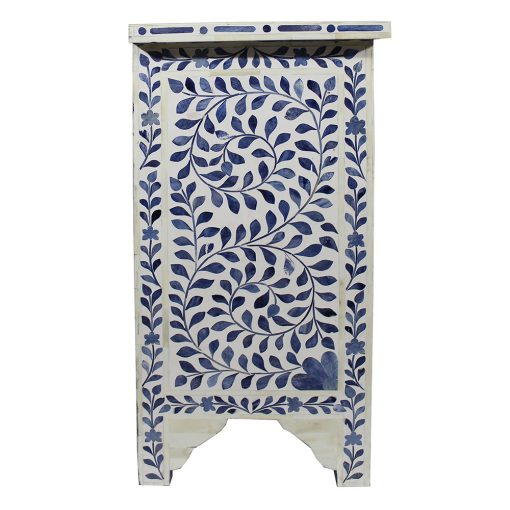Roomattic Mahal Blue Bone Inlay Bedside Nightstand Side Table R5048  3