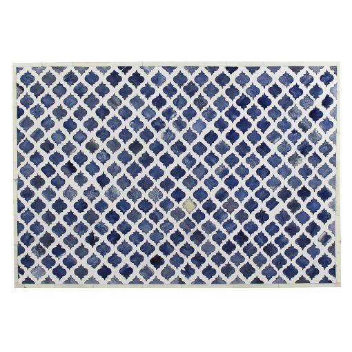 Roomattic Marrakech Blue Bone Inlay Bedside Nightstand Side Table R5022 4