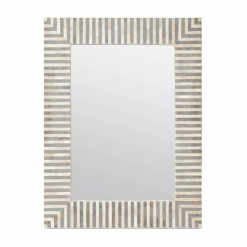 Roomattic Grey Lined Bone Inlay Mirror