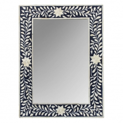 Roomattic Signature Black Rectangular Bone Inlay Mirror