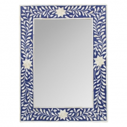 Roomattic Signature Blue Rectangular Bone Inlay Mirror