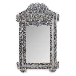 Roomattic Taj Imperial Black Bone Inlay Mirror