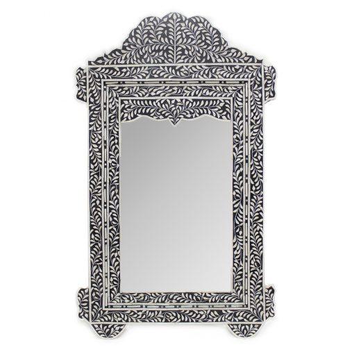 Roomattic Taj Imperial Black Bone Inlay Mirror
